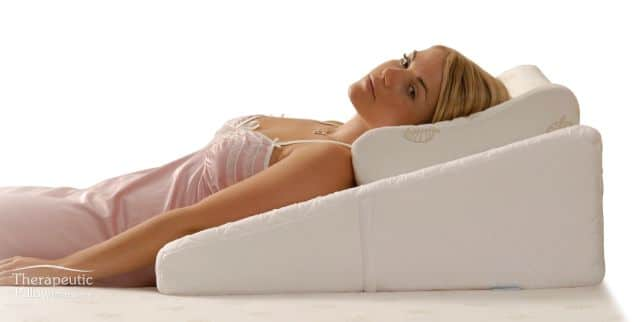 Bed Wedge Pillow Ideal For People During Bed Rest As It